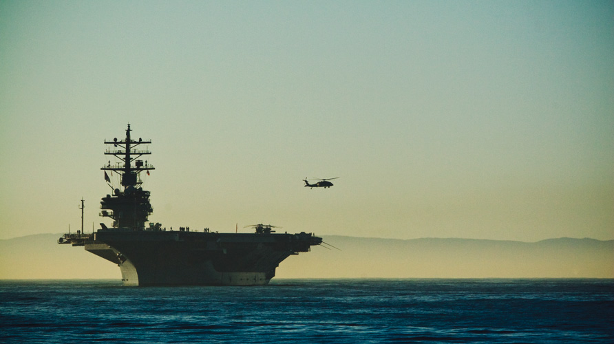 uss ronald reagan in santa barbara