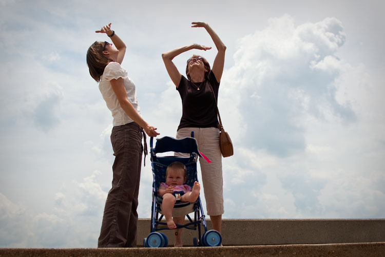 St. Louis Arch tourists