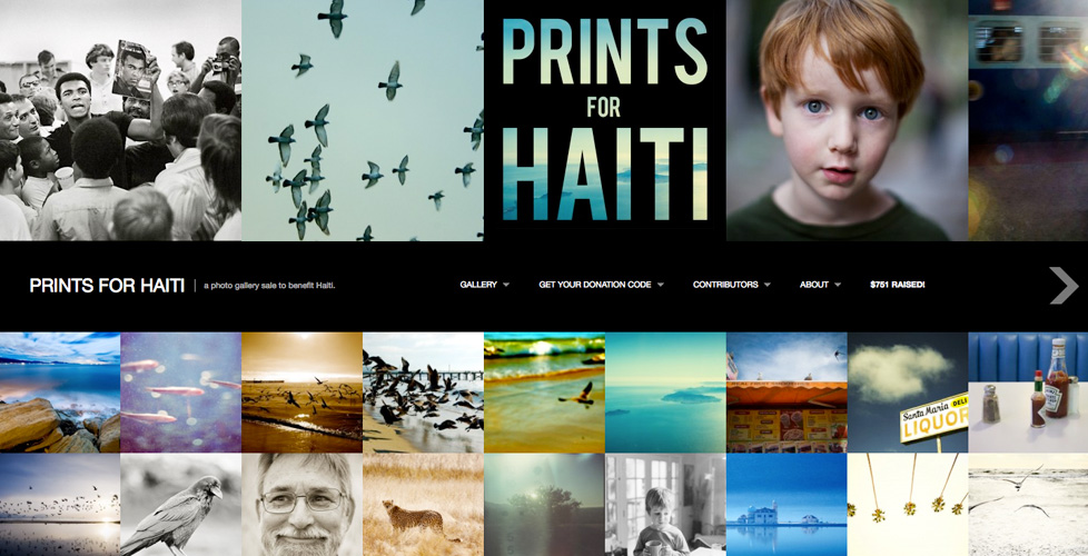 Prints for Haiti - a photo gallery sale to benefit Haiti