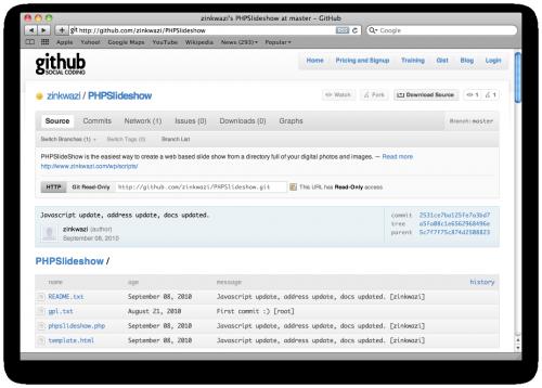 PHPSlideshow now on GitHub!