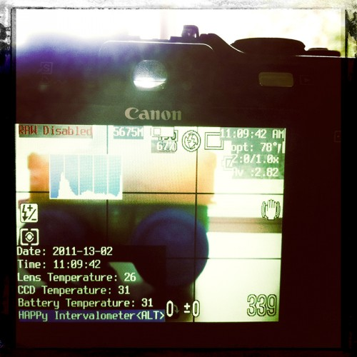 Intervalometer and temperature logging on Canon G9 with CHDK!