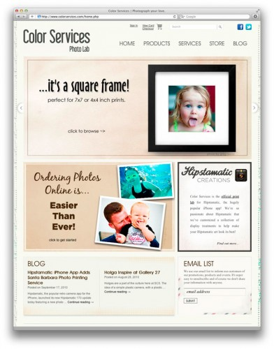 My photos at Color Services dot com!
