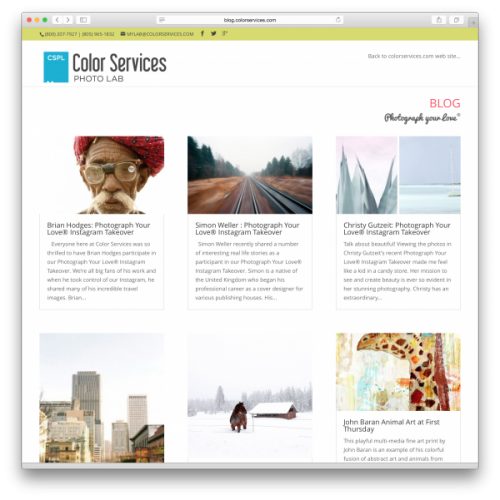New Color Services blog